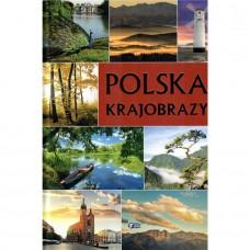 Polska krajobrazy złocone litery
