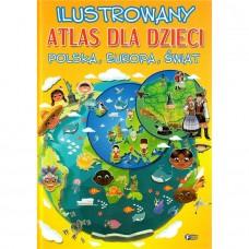 Ilustrowany atlas dla dzieci PL EU ŚW
