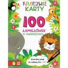 Kreatywne karty. 100 łamigłówek o zwierzętach