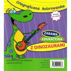 Ortograficzna kolorowanka. Z Dinozaurami