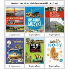 Pakiet nr 9 Nagrody do Szk.Podst.kl. 1-4 /17 szt,/