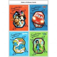 Pakiet 56 Najpiękniejsze opowieści Disney 4 szt.