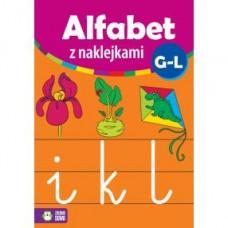 Alfabet z naklejkami G-L