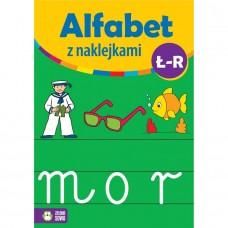 Alfabet z naklejkami Ł-R